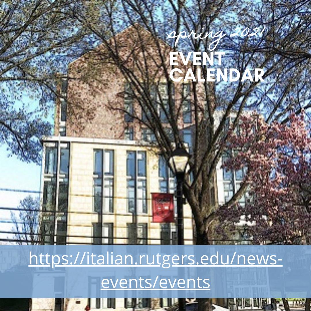 Rutgers Spring 2021 Calendar Events